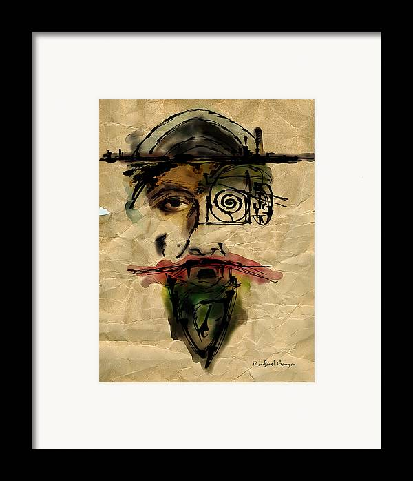 Portraits Framed Print featuring the painting Quoijote 002 by Rafael Gaya