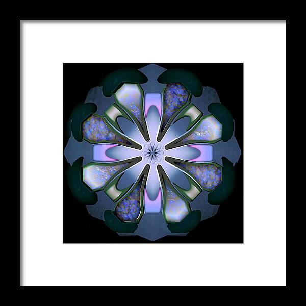 Geometric Abstract Framed Print featuring the digital art r by Warren Furman