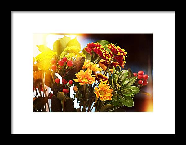 Flowers Framed Print featuring the photograph Rachels Flowers by Evejenine