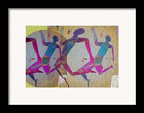 Human Composition Framed Print featuring the digital art Racing by Noredin Morgan
