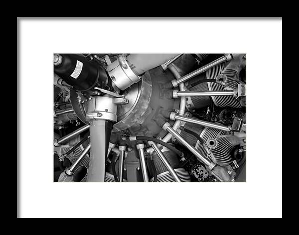 Aircraft Framed Print featuring the photograph Radial Engine by Alasdair Turner