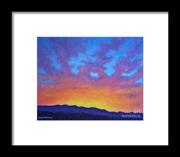 Landscape Framed Print featuring the painting Radiance by Brian Commerford