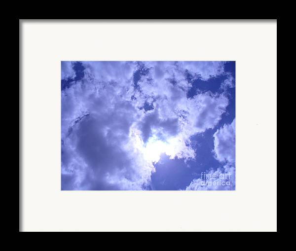 Sky Framed Print featuring the photograph Radiance by Stephanie Richards