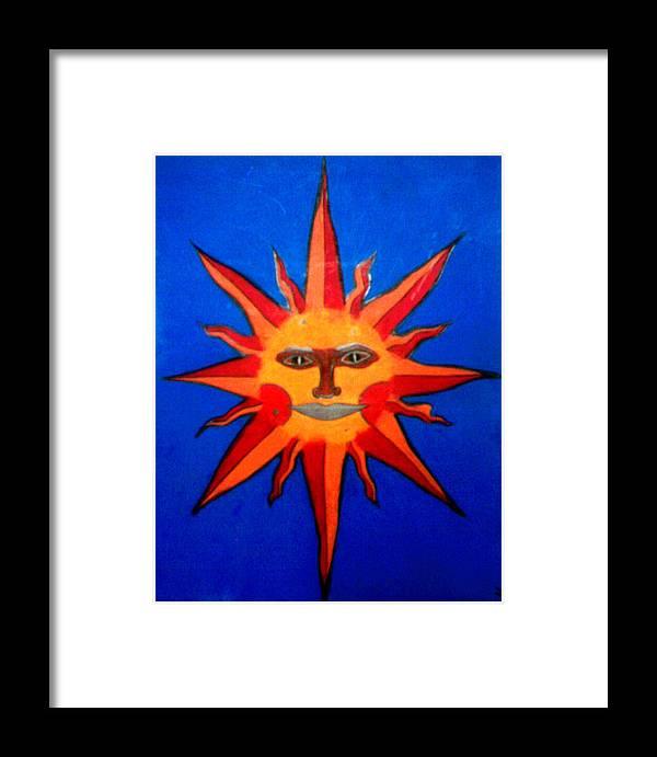 Sun Framed Print featuring the drawing Radiance by Tara Kearce