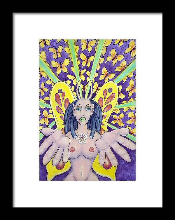 Nude Framed Print featuring the painting Radiant Butterflies by Eddie Sargent