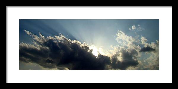 Blue Framed Print featuring the photograph Radiant Sky One by Ana Villaronga