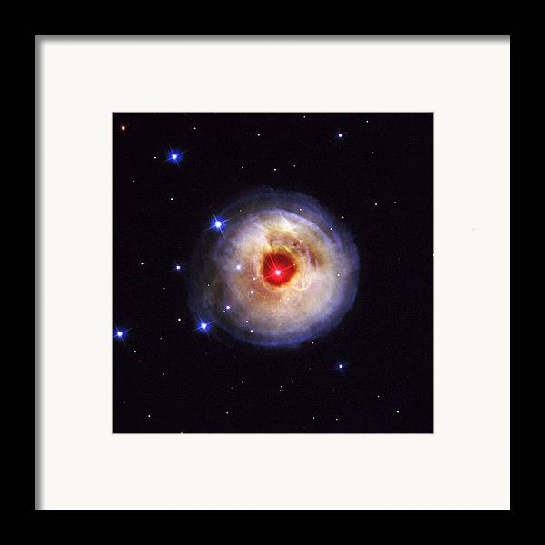 Galaxy Framed Print featuring the photograph Radiation From A Stellar Burst by ESA and nASA