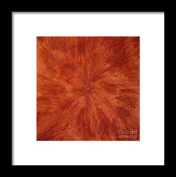 Abstract Framed Print featuring the painting Radiation With Brown Yellow And Voilet by Dean Triolo