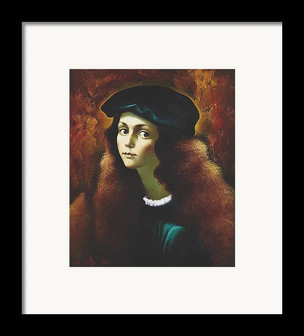 Portrait Framed Print featuring the painting Rafael by Andrej Vystropov