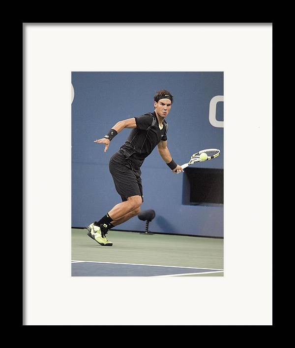 Rafael Nadal Framed Print featuring the photograph Rafael Nadal In Attendance For Us Open by Everett