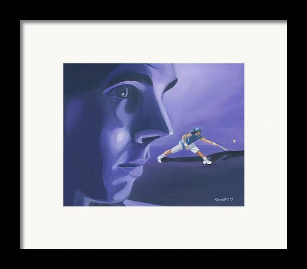 Raphael Framed Print featuring the painting Rafael Nadal by Quwatha Valentine