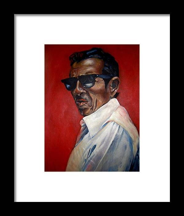 Portrait Framed Print featuring the painting Rafael by Yxia Olivares