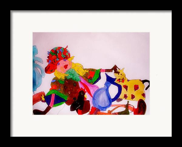 Ragdoll Framed Print featuring the mixed media Ragdoll And Friends by Lessandra Grimley
