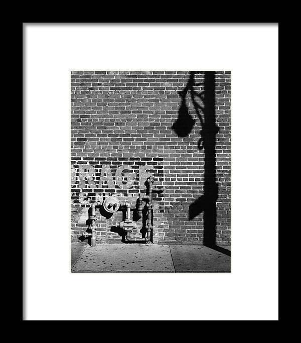 Urban Framed Print featuring the photograph Rage And Shadow by Jim Furrer
