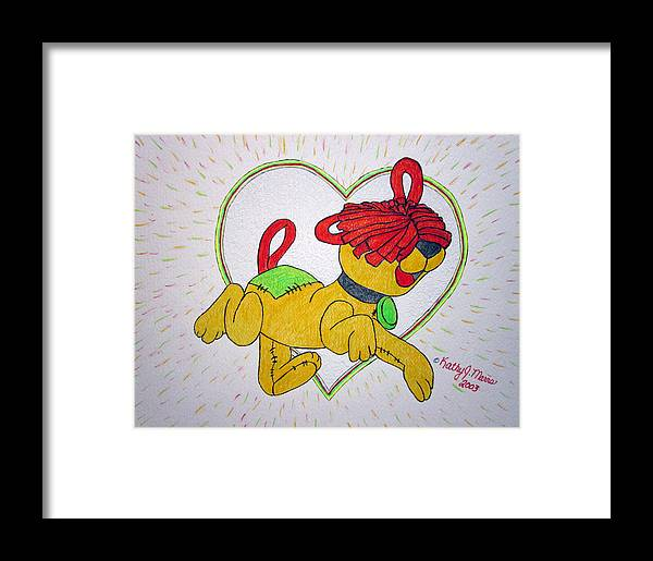Raggedy Arthur Framed Print featuring the painting Raggedy Arthur by Kathy Marrs Chandler