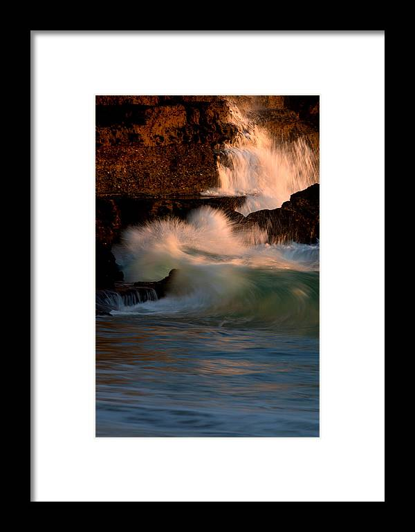 Landscape Framed Print featuring the photograph Raging Rocks by Brad Scott