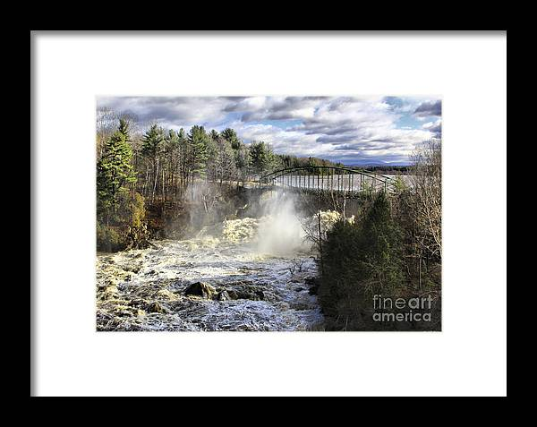 Falls Framed Print featuring the photograph Raging Water by Deborah Benoit