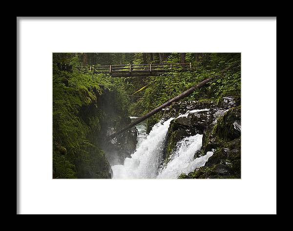 Water Framed Print featuring the photograph Raging Water Fall by Chad Davis