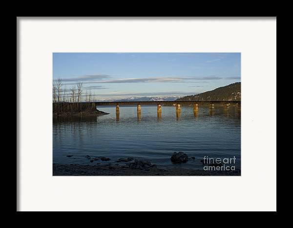 Bridge Framed Print featuring the photograph Railroad Bridge Over The Pend Oreille by Idaho Scenic Images Linda Lantzy