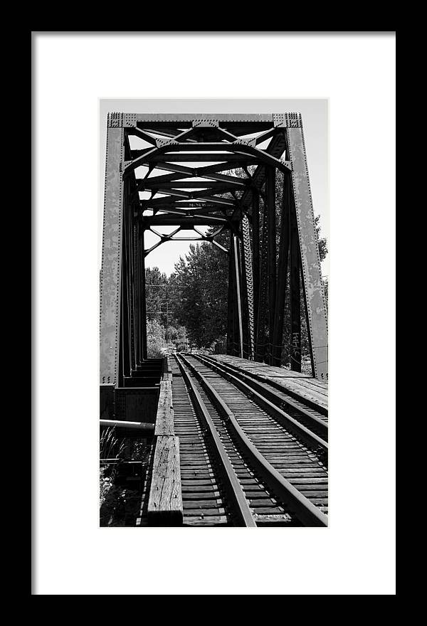 Architecture Framed Print featuring the photograph Railroad Bridge by Sonja Anderson
