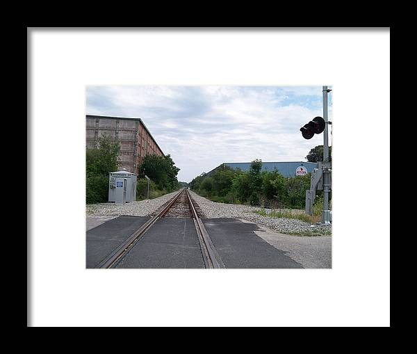 Untouched Photo Framed Print featuring the photograph Railroad Tracks by Valerie Bruno