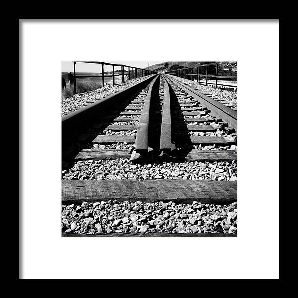 Framed Print featuring the photograph Rails by Beth LaFata