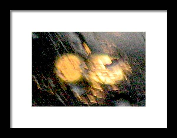 Lights Framed Print featuring the photograph Rain 1 by Stephen Hawks