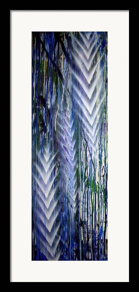 Rain Framed Print featuring the painting Rain 2 by Leigh Odom