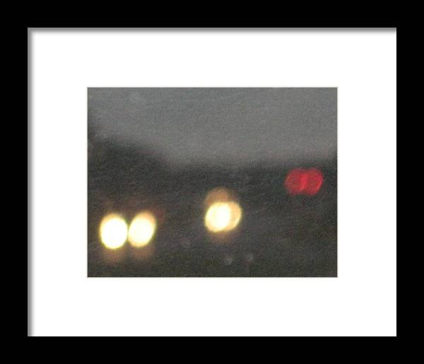 Lights Framed Print featuring the photograph Rain 5 by Stephen Hawks