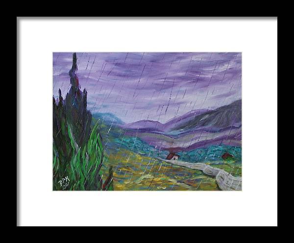 Rain Framed Print featuring the painting Rain by David McGhee