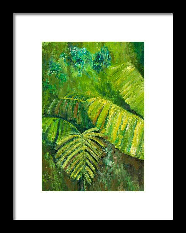 Rain Forest Framed Print featuring the painting Rain Forest by Carol P Kingsley