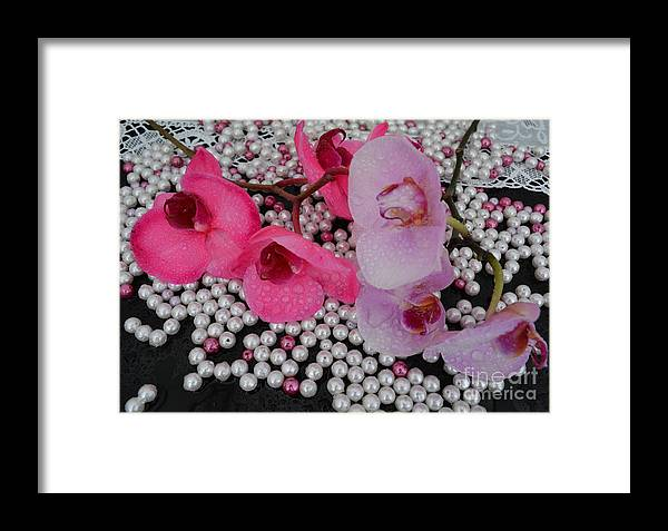 Orchids Framed Print featuring the photograph Rain On Orchids by To-Tam Gerwe