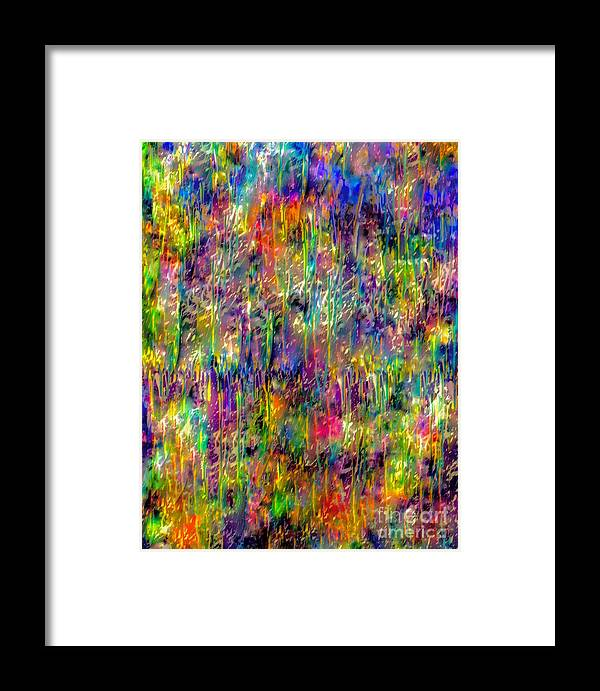 Abstract Painting Framed Print featuring the mixed media Rain On The Poppy Field by Catalina Walker