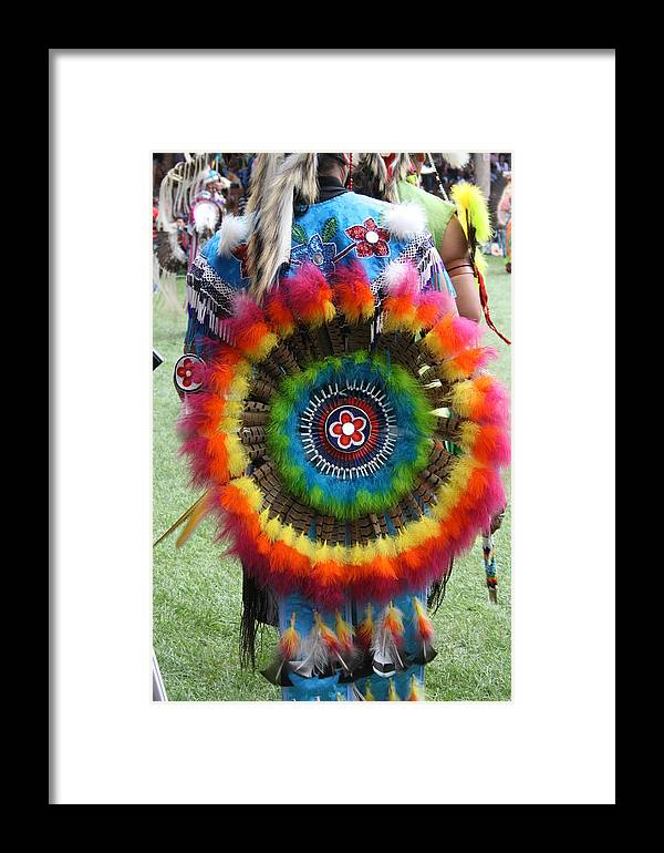 Native Framed Print featuring the photograph Rainbow Bustle by Nicole Herbert
