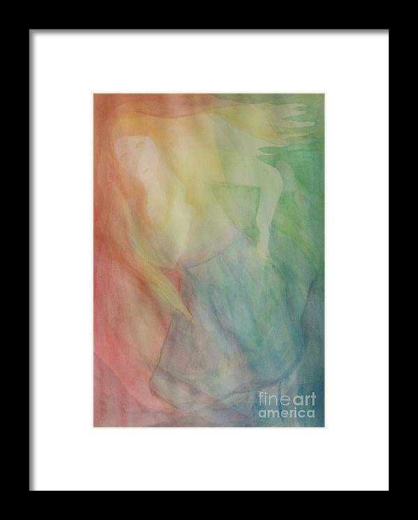 Rainbow Framed Print featuring the painting Rainbow Dancer by Nicole Besack