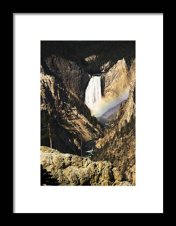 Falls Framed Print featuring the photograph Rainbow Falls 2 by Chad Davis