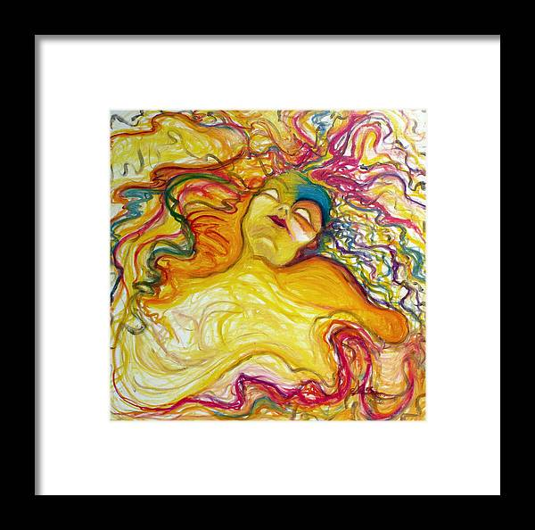Goddess Framed Print featuring the painting Rainbow Goddess by Erika Brown