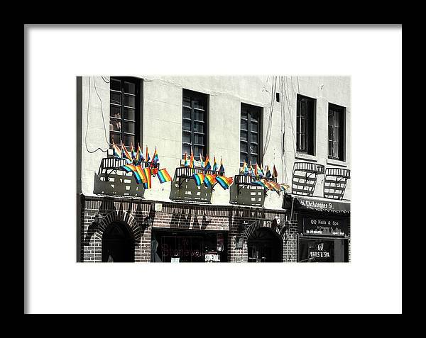 New York City Framed Print featuring the photograph Rainbow History by Dan Stone