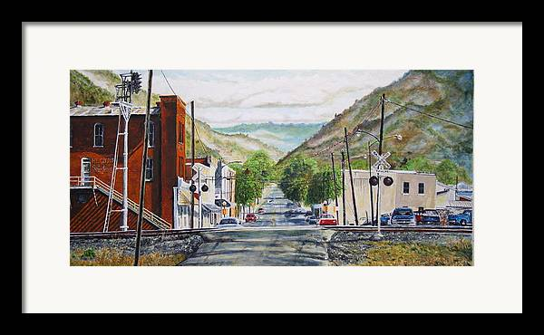 Appalachia Framed Print featuring the painting Rainbow In Rust by Thomas Akers