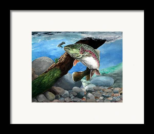 Fish Framed Print featuring the painting Rainbow by Kathleen Kelly Thompson