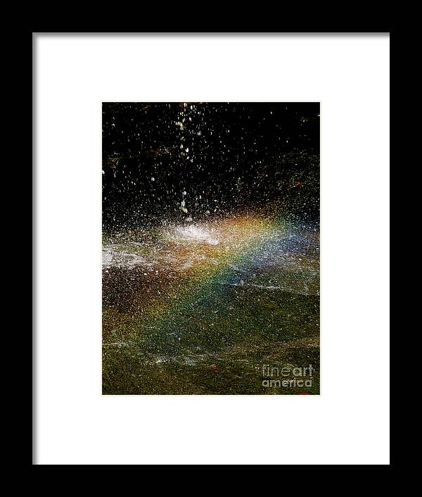 Rainbow Framed Print featuring the photograph Rainbow by Maria Massimiano