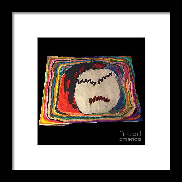Rainbow Colors Framed Print featuring the painting Rainbow Moon by Adam Emery