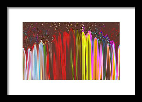 Abstract Framed Print featuring the digital art Rainbow Mountain by Joshua Sunday