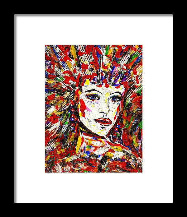 Abstract Art Framed Print featuring the painting Rainbow by Natalie Holland