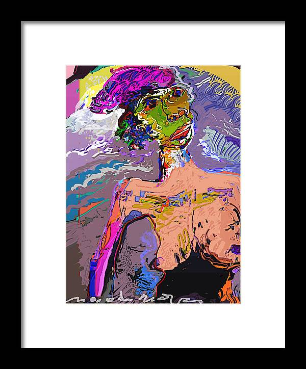 Framed Print featuring the mixed media Rainbow by Noredin Morgan