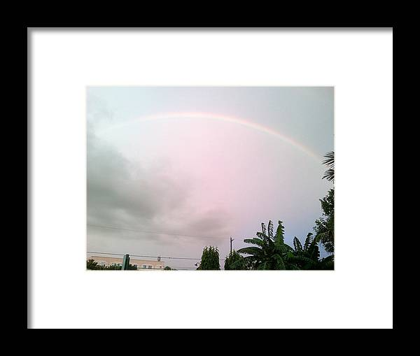 Rrainbow Framed Print featuring the photograph The Rainbow by Pamela Abeleda