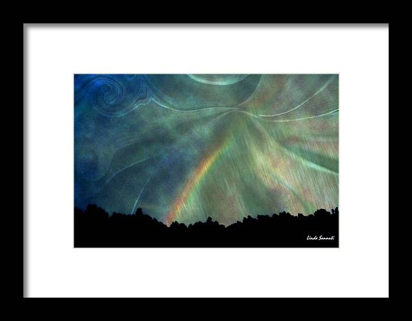 Nature Framed Print featuring the photograph Rainbow Showers by Linda Sannuti