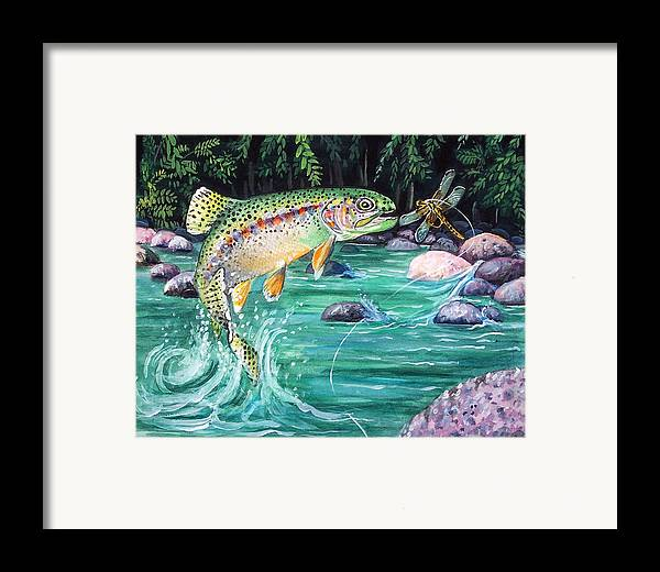 Fish Framed Print featuring the print Rainbow Trout by Bette Gray