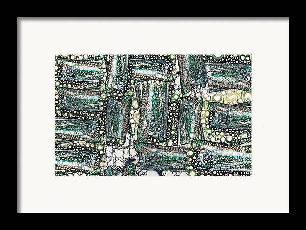 Abstract Framed Print featuring the digital art Rainbow Trout Thingies by Ron Bissett