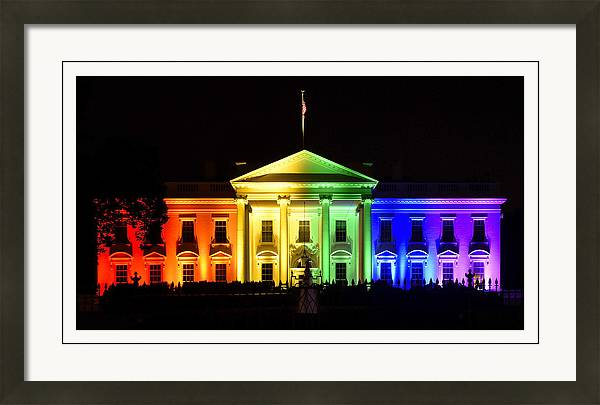 Rainbow White House  - Washington DC by Brendan Reals